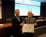 Trabensol Senior Centre's award during the Fourth Edition of Awards to the Best Geothermal Installation in Madrid