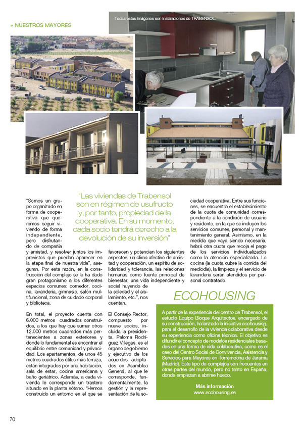 eCOHOUSING Revista Senda Senior
