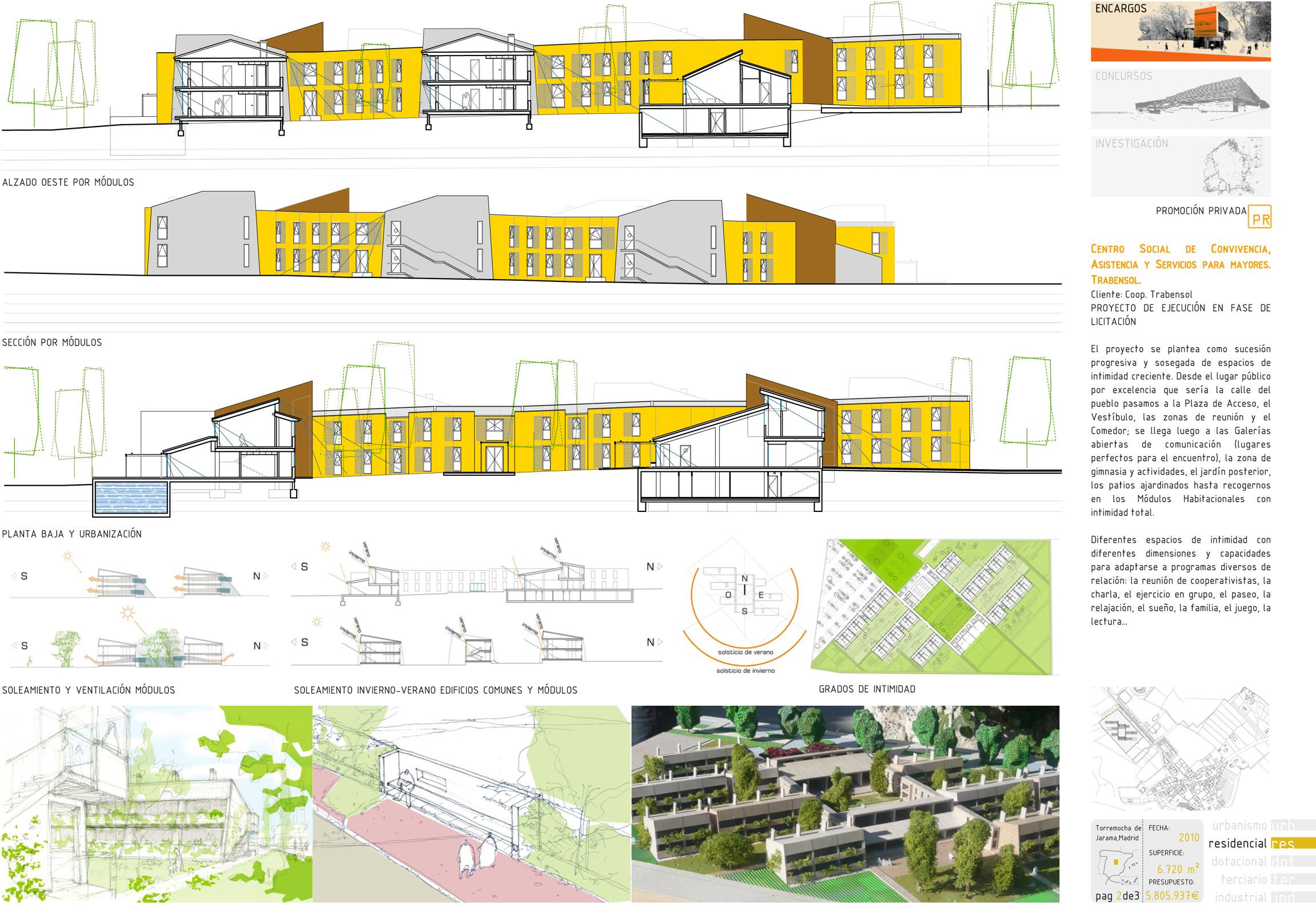 Ecohousing proyecto de arquitectura del centro de mayores for Plan de arquitectura