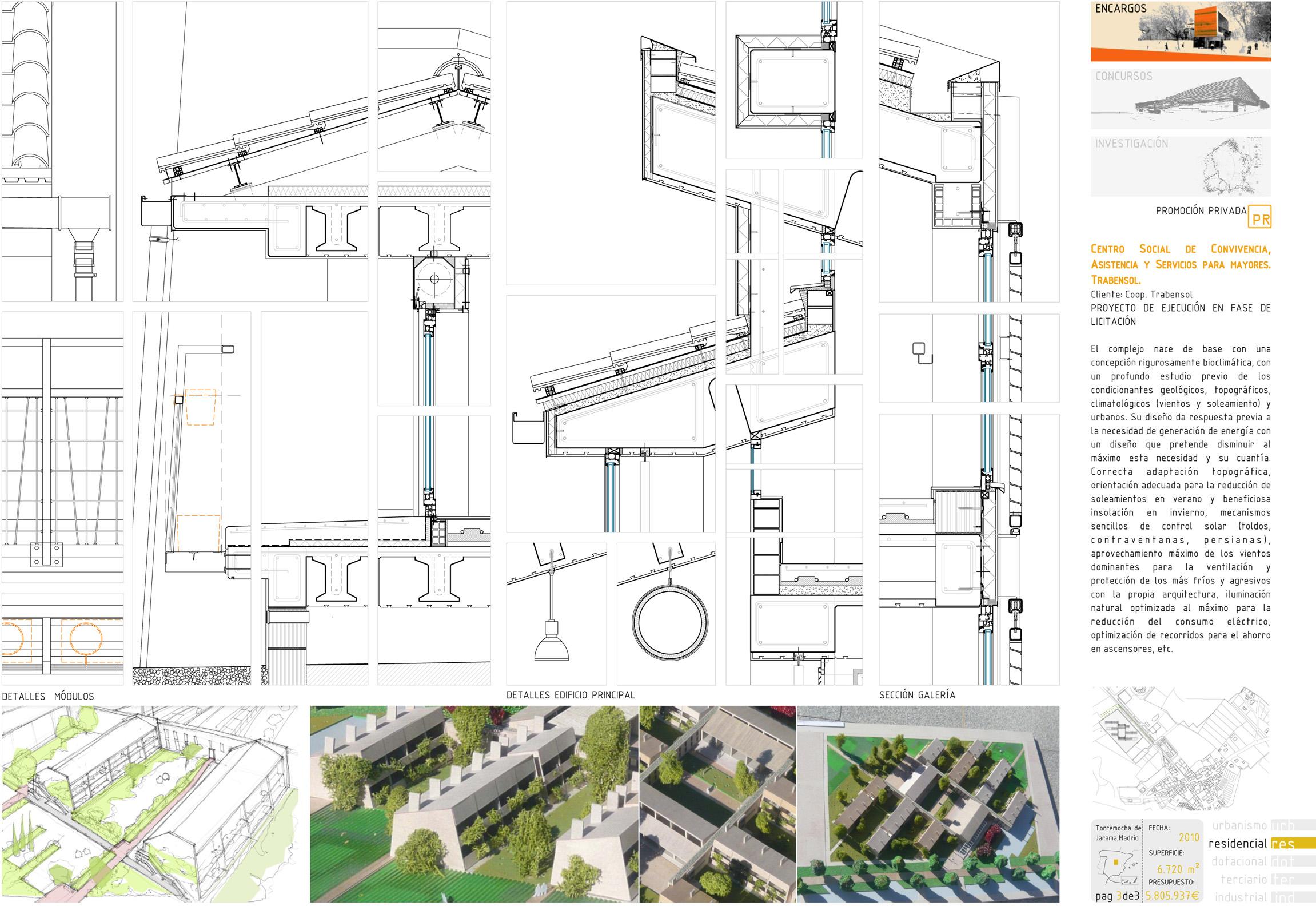 Ecohousing proyecto de arquitectura del centro de mayores for Arquitectura de proyectos