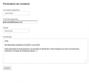 cohousing vivienda colaborativa en España formulario de contacto