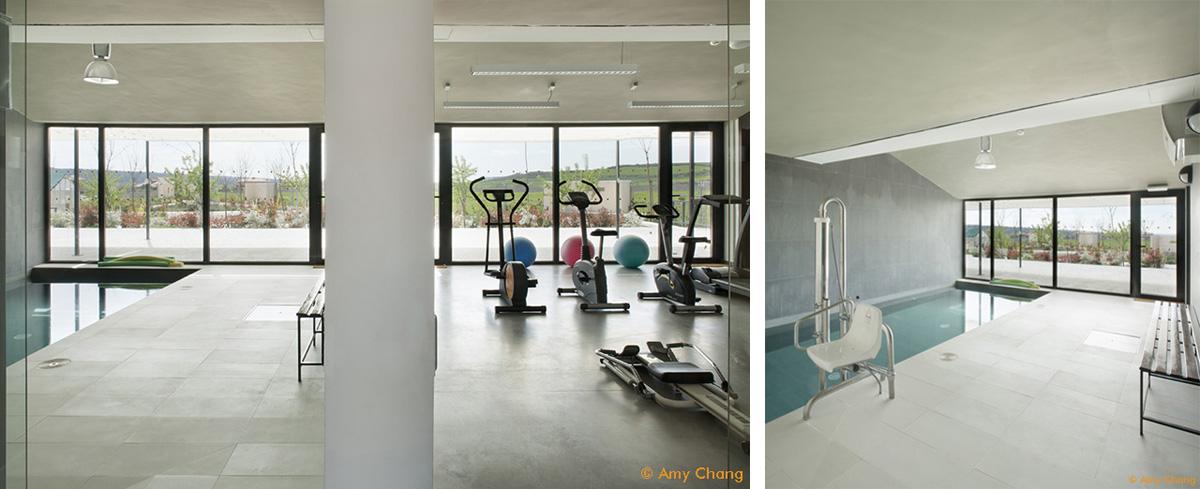Baño terapéutico y gimnasio Trabensol